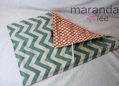 Changing Pad  Blue Chevron maranda lee - Custom Made to Order - Padded Baby Shower Gift Diaper Bag Accessories