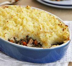 Golden veggie shepherd's pie BBC website. Also referred to as Lentil cottage pie or Lentil Shepherd's pie. Bbc Good Food Recipes, Pie Recipes, Veggie Recipes, Vegetarian Recipes, Cooking Recipes, Healthy Recipes, Vegetarian Freezer Meals, Vegetarian Sweets, Recipies