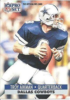 dc987232dfb 1991 NFL Pro Set Series 1 Troy Aikman #128 Football Card #DallasCowboys  Canadian Football