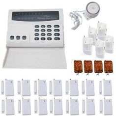 WIRELESS HOME SECURITY SYSTEM LED BURGLAR FIRE ALARM HOUSE AUTO-DIALER by Generic. $103.55. Alarm Features: 8 Zones (Supports an Unlimited Sensors per Zone) Long Range (True 240 to 450 feet) Sensors Phone Line Anti-Cut Monitoring (Sounds Alarm if Phone Line is Cut) Built-In Rechargeable Backup Battery (Keypad) Programmable Siren Time (0 to 30 Minutes) With Built-In or External Siren  Additional Security Features: Audible or Silent Alarm Mode Keypad Tones On or Mute Mode...