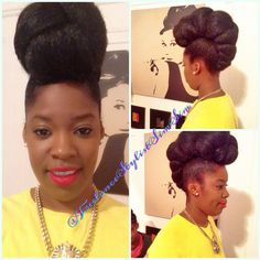 Inspirational images on natural hair ,makeup,fashion and everything linked to beauty Natural Twists, Natural Hair Updo, Natural Hair Care, Protective Hairstyles For Natural Hair, Fantasy Hair, Natural Styles, African American Hairstyles, Dope Fashion, Protective Styles