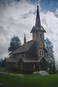 """Drevený kostol sv. Anny v Tatranskej Javorine 🙂 včerajšie """"zatiahnuté"""" počasie 🙂 Mansions, House Styles, Home Decor, Mansion Houses, Homemade Home Decor, Manor Houses, Fancy Houses, Decoration Home, Palaces"""