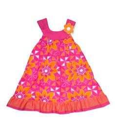 Look what I found on #zulily! Pink Floral Swing Dress - Toddler & Girls #zulilyfinds