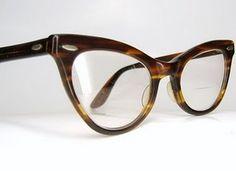 Vintage 1950s Shuron Tortoise Cat Eye Eyeglasses