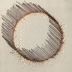 work in progress - nails in canvas by Sharon Pazner, via Flickr