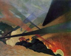 Felix Vallotton (Swiss 1865-1925) Verdun (1917)