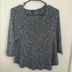 Urban Outfitters Sweaters - Urban outfitters Grey cropped sleeve sweater