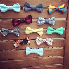 Bow tie display for a craft fair / Sauvagine