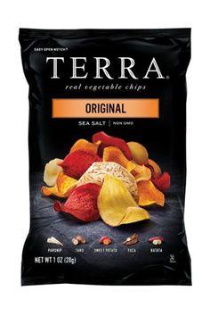 TERRA Original Sea Salt Chips 24 ct pack 1 oz bags for sale online Chip Packaging, Packaging Snack, Food Packaging Design, Juice Packaging, Root Vegetables, Healthy Vegetables, Gourmet Recipes, Snack Recipes, Snacks List