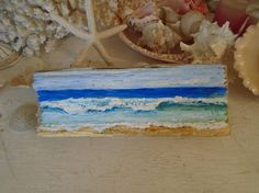 Hand Painted Ocean Scene Painted on an Amazing Piece of