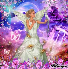 Heavenly Angels, Angels In Heaven, Fantasy Angel, Zodiac Sign Fashion, Angel Pictures, Beautiful Fairies, Angel Art, Faeries, Gifs