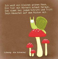 #rätsel #gedicht #kindergarten #erzieher #erzieherin #reim #schnecke #kita