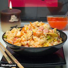 Arroz tres delicias | La receta más conocida de la cocina china y tan fácil de preparar, ¿a qué esperas? :)