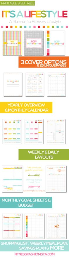Ever wished you had a planner you could fully customize to fit your entire lifestyle? Wish no more the It's A Lifestyle Planner is here. Download it, Customize it and Print it out! #planners #printables