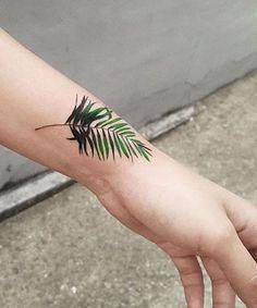 Outstanding Fern Tattoo Design on Wrist