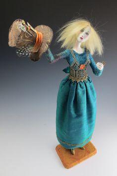 Pondering Wonderland OOAK Art Doll by cmoyer on Etsy