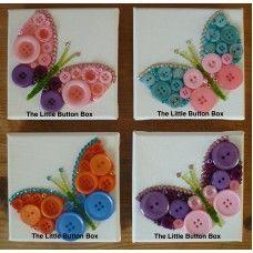 Button Art Small Butterflies