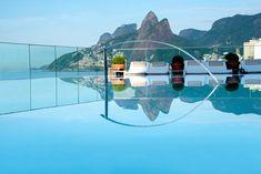 Boasting a rooftop pool with stunning sea views, Hotel Fasano Rio de Janeiro offers luxurious beachfront accommodations on Ipanema Beach. Hotel Fasano Rio, Rio Hotel, Hotel Pool, Cool Swimming Pools, Best Swimming, World's Most Beautiful, Beautiful Hotels, Las Vegas, Ubud