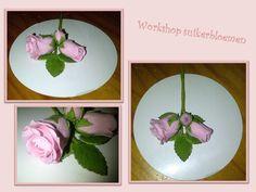 Mijn eerste workshop suikerbloemen, een rozenboeketje