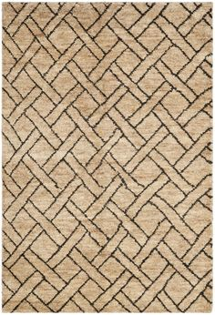 Fairfield Rug in charcoal on natural - the undulating basket-weave plaid recalls the patterns and colors of African kuba cloth (Ralph Lauren - Safavieh)
