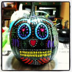 Day of the Dead pumpkin.