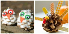 Pine cone crafts for kids are a great way to upcycle beautiful nature finds. Here are some of my favorite, creative animal pine cone crafts. Technically, a spider isn't a insect or an animal,… Pinecone Owls, Pinecone Crafts Kids, Pine Cone Crafts, Fall Crafts For Kids, Toddler Crafts, Diy For Kids, Fun Crafts, Arts And Crafts, Crayon Box