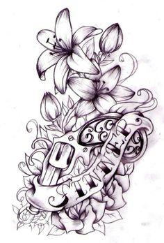 Coloring Sinner - Left Stomach Design by Nevermore-Ink on deviantART lillies flowers handgun pistol Tattoo Flash Art ~A. 1 Tattoo, Tattoo Motive, Tatoo Art, Piercing Tattoo, Tattoo Drawings, Tattoo Flash, Farm Tattoo, Stomach Tattoos, Body Art Tattoos