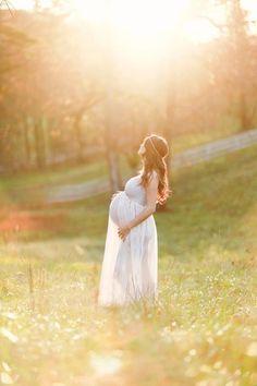 Romantic light-filled maternity