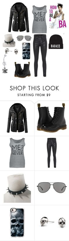 """""""Badass"""" by bloodrose6 ❤ liked on Polyvore featuring LE3NO, Dr. Martens, rag & bone, Revo, Casetify and Kasun"""