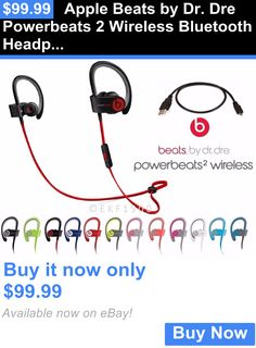 Headphones: Apple Beats By Dr. Dre Powerbeats 2 Wireless Bluetooth Headphones ++ Accessories BUY IT NOW ONLY: $99.99