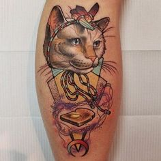 Everyone loves kitties and toast by Cody Eich. #cat  #tattoo #tattoos