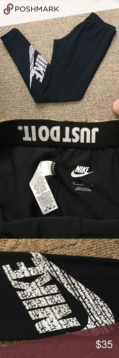 Nike Leggings Worn a handful of times - no sign of wear - print on left leg - size M, fit true to size Nike Pants