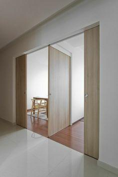 porte en bois, coulissantes, portes coulissantes pour votre maison, idée, aménagement