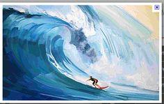 wave pinceladas