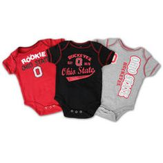 Ohio State Buckeyes Baby Clothes 3 Pack Rompers - $18.39