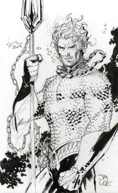 Jim Lee Sketches Aquaman and Batgirl Comic Book Artists, Comic Artist, Comic Books Art, Comic Book Characters, Comic Character, Character Design, Héros Dc Comics, Jim Lee Art, Hq Dc