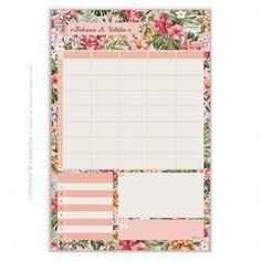 Mais que um calendário de compromissos, o Planejador de mesa Fitness & Nutri Ladylike...  São 54 folhas personalizadas e destacáveis • Tamanho: 28 x 43cm