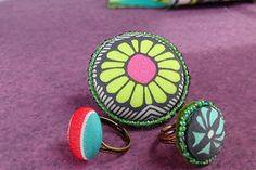 DIY fabric button rings