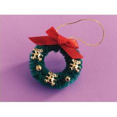 Teddy Christmas Wreath - Christmas Decorations - Christmas Decorations - Christmas at the Dolls' House - Dolls House Emporium