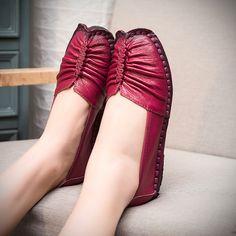 Encontrar Más Mocasines Información acerca de Women Shoes 2016 nuevo cuero genuino los zapatos planos de la mujer mocasines hechos a mano suela suave y cómodo zapatos Casual mujeres pisos, alta calidad zapatos de ee. uu., China marca de calzado Proveedores, barato zapatos de los bebés de The star of Zhejiang en Aliexpress.com