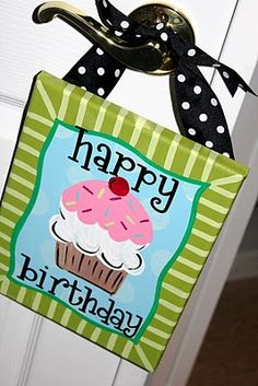 birthday door hanger