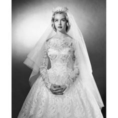 Bride in wedding dress with hands clasped Canvas Art - (18 x 24)