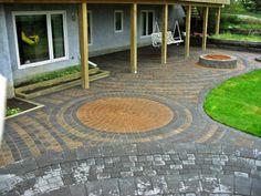 Backyard Recycled Patio Pavers | Best Patio Materials | outdoortheme.com
