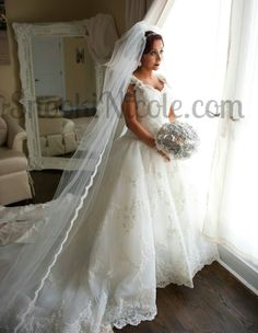 Nicole 'Snooki' Polizzi is married! She shared this photo from her wedding day on her website. (snookinicole.com)