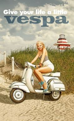 Give your life a little Vespa ~ Anonym | #Scooters #Vespa #ItalianDesign #Piaggio