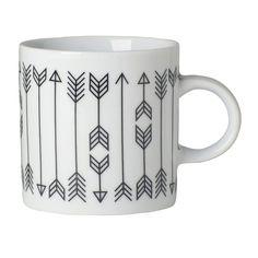 Arrow Short Mug 12oz Set Of 4