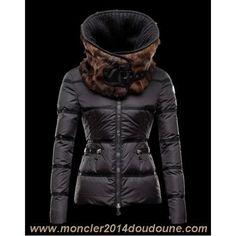 Doudoune Moncler Femme Vison Noir Vente