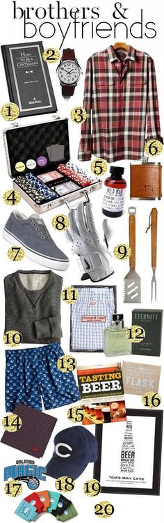 Gift Guide Brothers Boyfriends