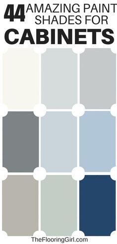 Best Paint Colors For Kitchen Cabinets And Bathroom Vanities – Diy Bathroom Remodel İdeas Best Paint Colors, Kitchen Paint Colors, Best Bathroom Paint Colors, Paint Colors For Cabinets, Best Paint For Cabinets, Kitchen Paint Schemes, Vintage Paint Colors, Best Kitchen Cabinet Paint, Best Kitchen Colors