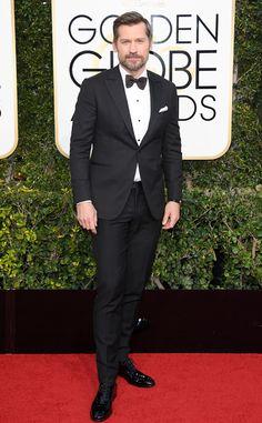 Nikolaj Coster-Waldau from 2017 Golden Globes Red Carpet Arrivals